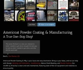 AMERICOAT POWERCOATING & MANUFACTURING.
